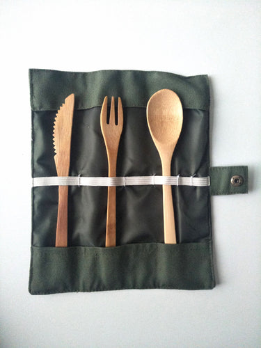 Take-Away Bamboo Cutlery Set