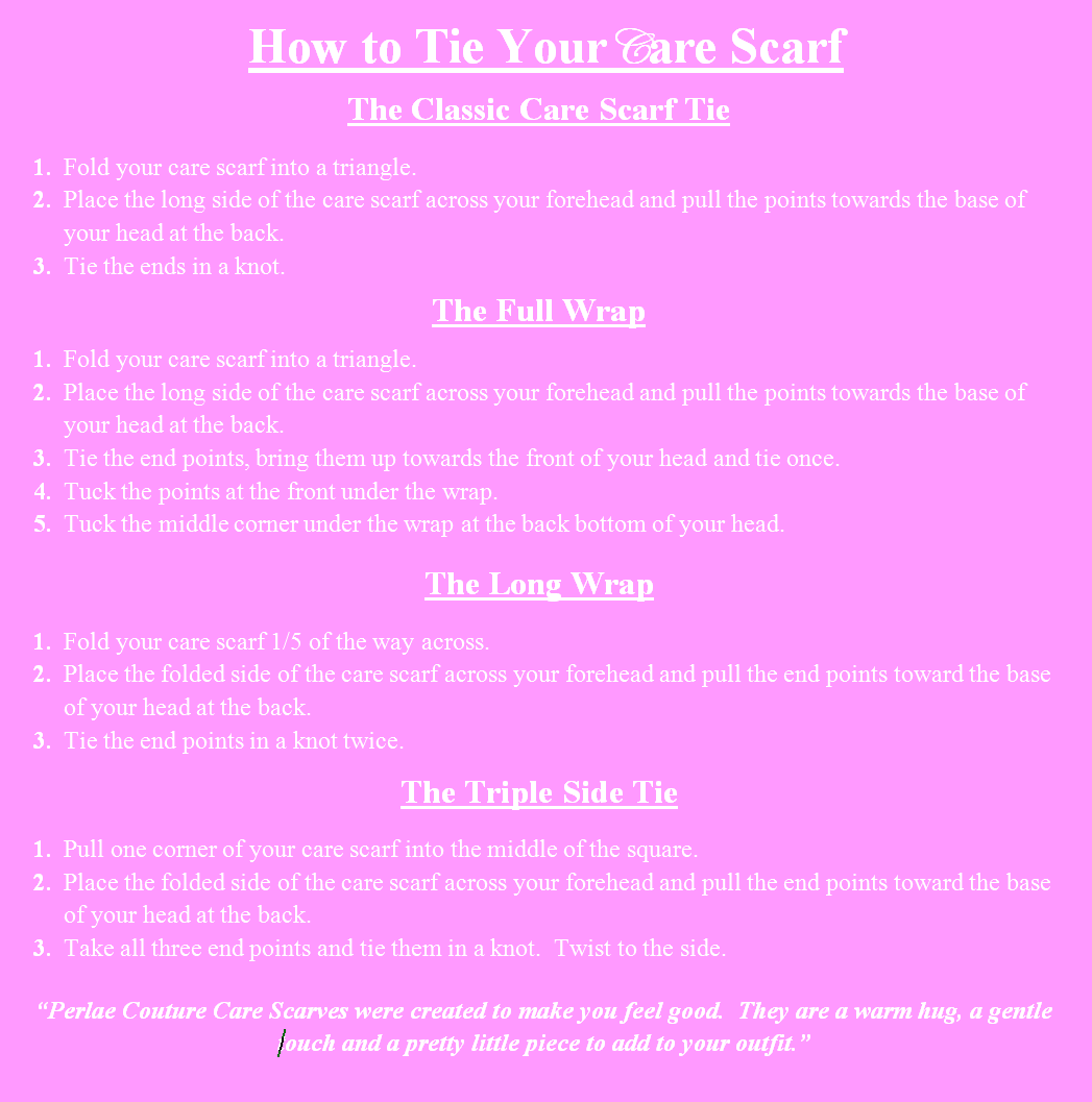 How to Tie Your Care Scarf