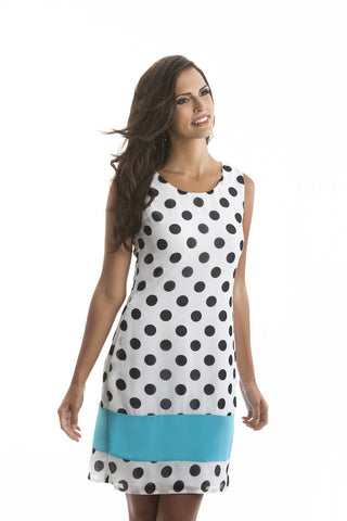 Cora Black and White Polka Dot Shift Dress