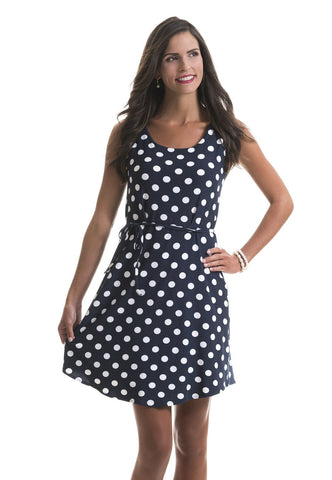 Catherine Polka Dot Dress with Flare Skirt