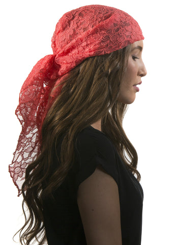 Coral Lace Care Scarf