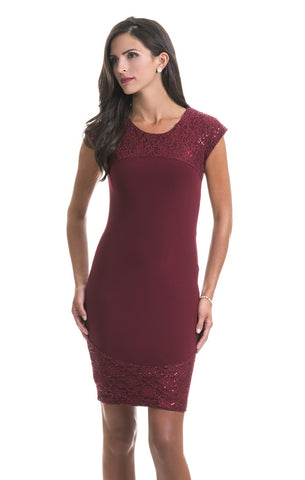 Helena Berry Red Semi Sparkle Dress