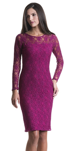 Jennifer Fuchsia Lace Dress