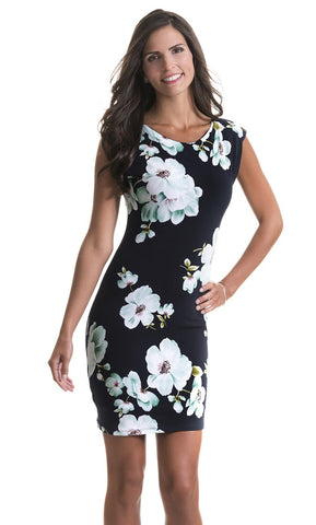 Jillian Green Flower Dress