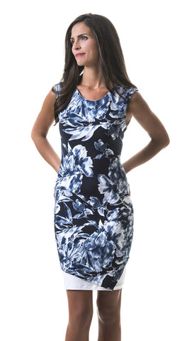 Julianne Blue Flower Dress