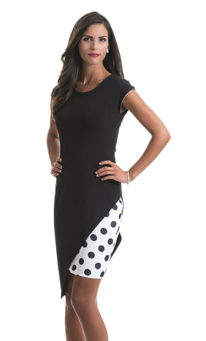 Laila Little Black Polka Dot Dress