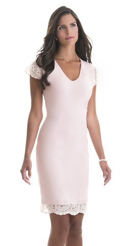 Michaela Pink Lace Dress