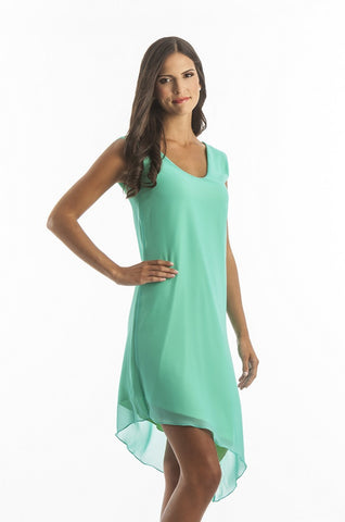 The Sweet Mint Green Chiffon Cocktail Dress