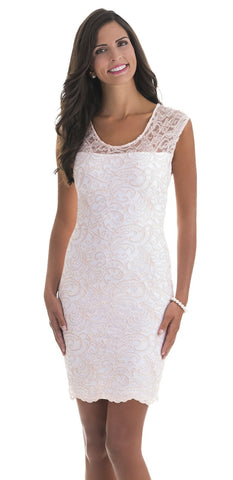 Patricia Pink Lace Dress