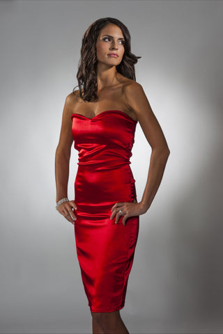 Red Sweetheart Cocktail Dress