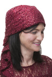Berry Sparkle Lace Care Scarf