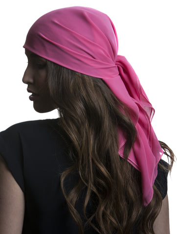 Bright Pink Chiffon Care Scarf