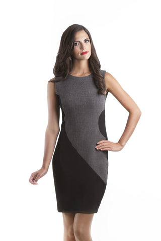 Bailey Black and Grey Sleeveless Dress