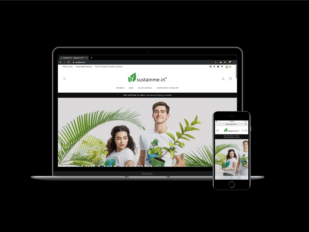 Sustainme.in website is Designed by Infinity Webpro