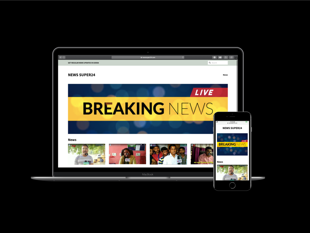 News Super24 website is designed by Infinity Webpro