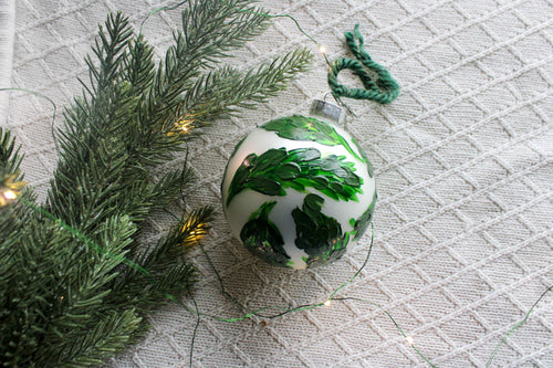 Green Leaf Holiday Ornament
