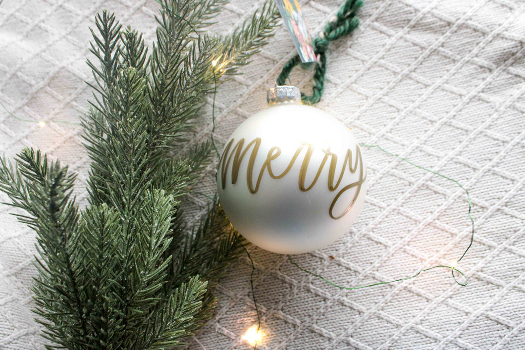 Gold Lettered Ornaments