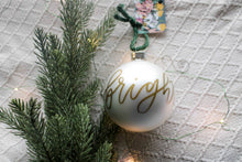 Load image into Gallery viewer, Gold Lettered Ornaments