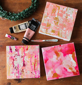 Valentines Day Mini Abstract Bright Pinks