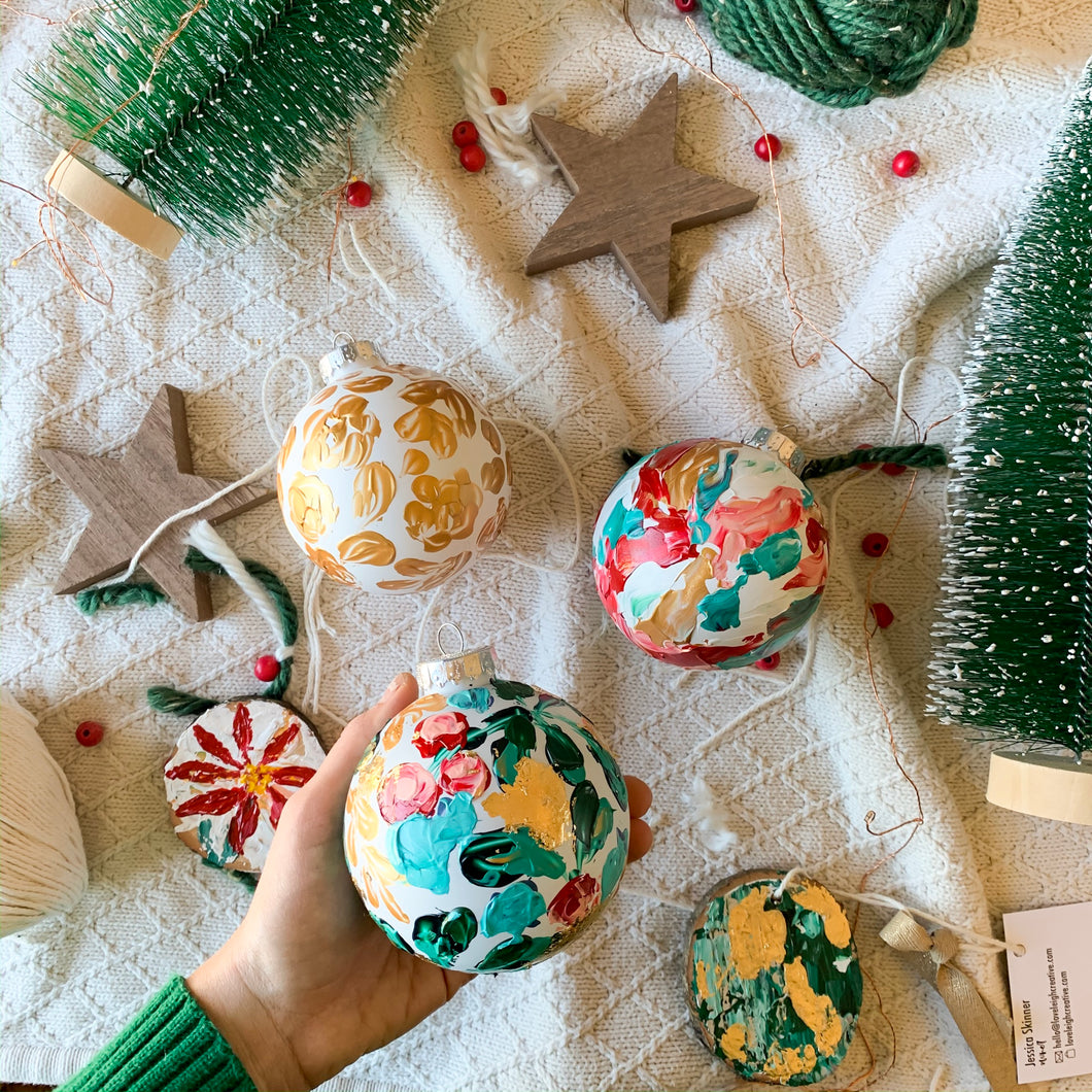 Set of Abstract Holiday Ornaments
