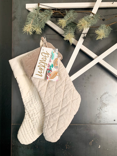 Holiday Floral Stocking or Gift Tag