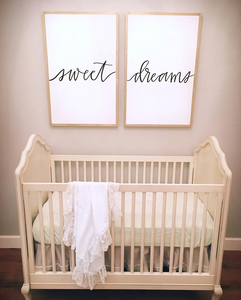 Double Over The Crib Sign 48x24
