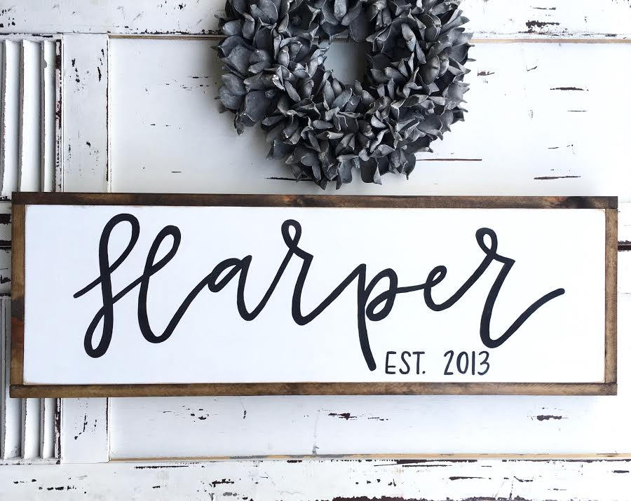 Last Name Family Sign Established Est. Wooden Family Sign