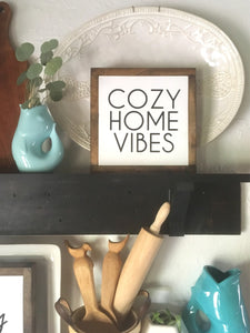 Mini Wooden Signs: This is Us and Cozy Home Vibes