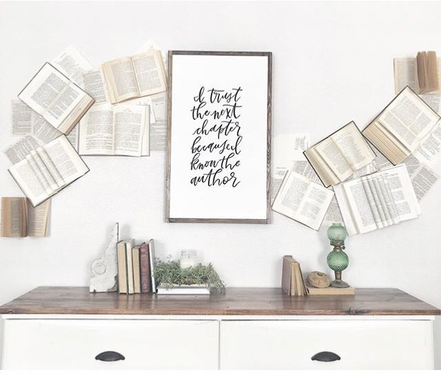 Book Wall Sign: I Trust The Next Chapter 31x18