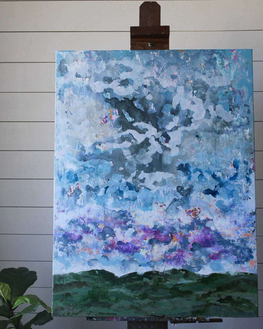 Original Mixed Media Sky 30x40 Gallery Wrapped