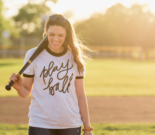 Play Ball Ringer Tee
