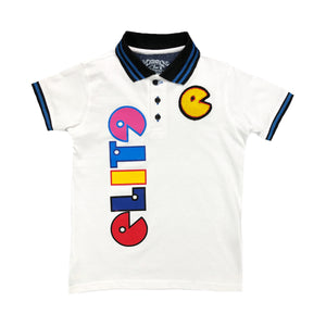 Exclusive Kids Print Polo White - Elite Premium Denim