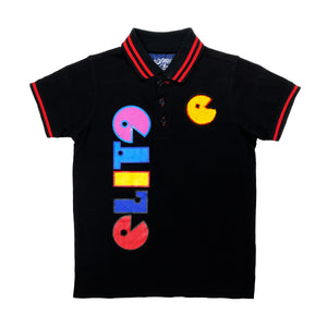 Exclusive Kids Print Polo Black - Elite Premium Denim