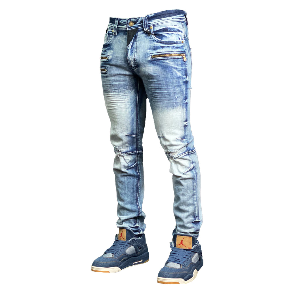 Alpha Men's Premium Biker Jeans - Elite Premium Denim