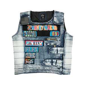 """Shooter"" Fashion Vest - Elite Premium Denim"