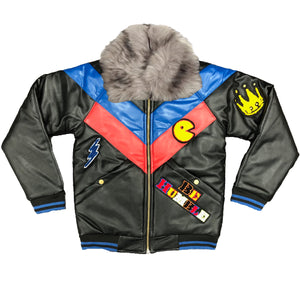 Onyx PLeather Kids Jacket