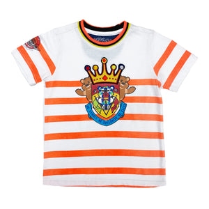 Orange Stripe Crown Kids Shirt - Elite Premium Denim