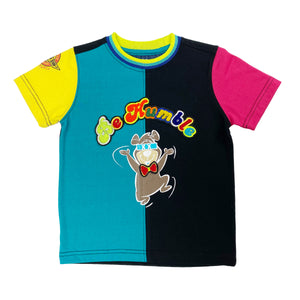 Humble Bear Kids Tee Teal/Black - Elite Premium Denim