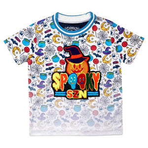 Spooky SZN Kids Premium Patch Tee - Elite Premium Denim
