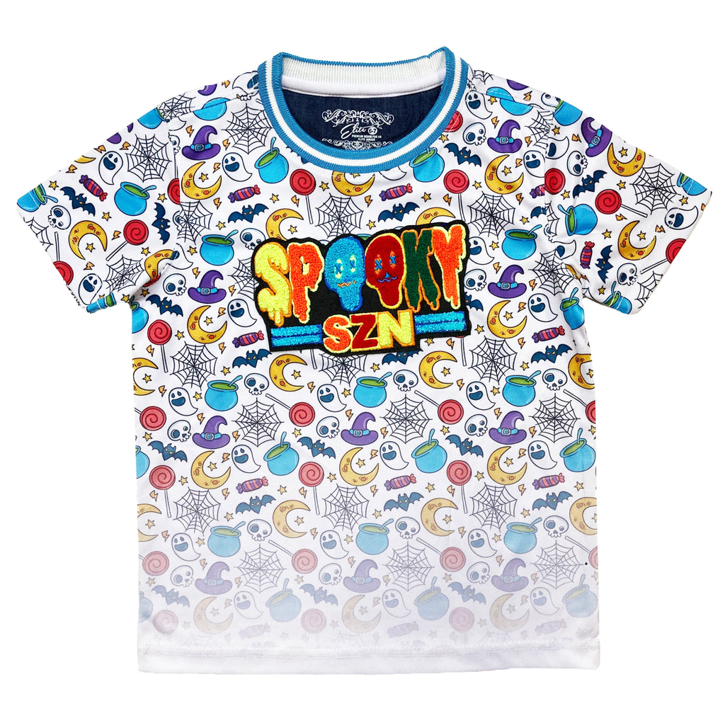Spooky SZN II Kids Premium Patch Tee - Elite Premium Denim