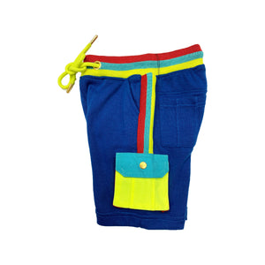 Royal Blue Kids French Terry Shorts LKR - Elite Premium Denim