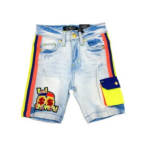 Blue Cepheus Kids Denim Shorts - Elite Premium Denim