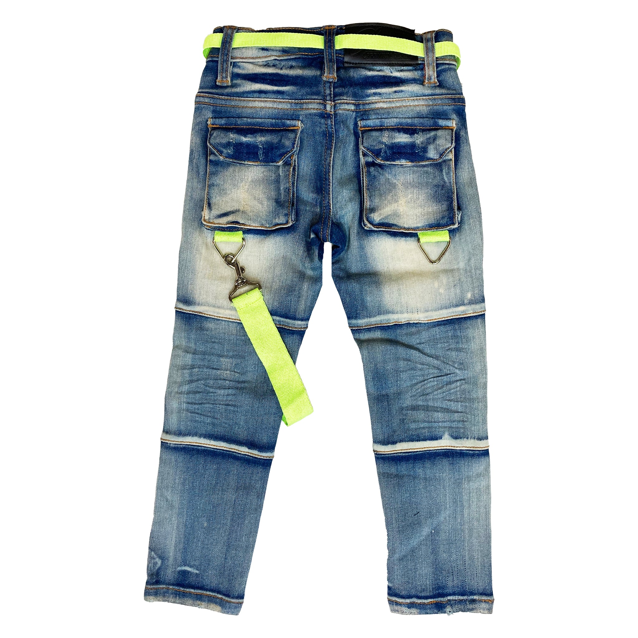 Highlight Premium Kids Cargo Jeans - Elite Premium Denim