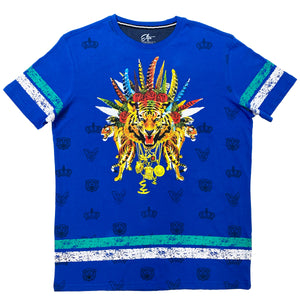 Tiger Chainz Blue T-Shirt - Elite Premium Denim