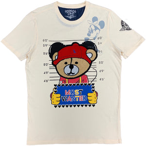 Most Wanted Bear Patch Tee Cream - Elite Premium Denim
