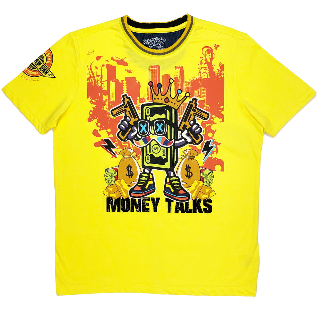 Mayhem Premium Stone Tee Yellow - Elite Premium Denim