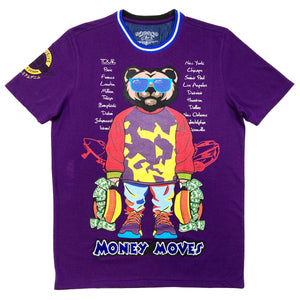 World Tour Premium Men's T-shirt Purple - Elite Premium Denim