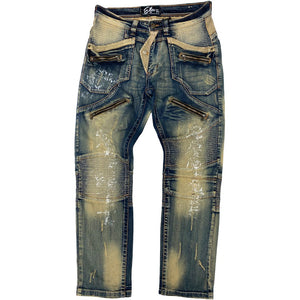 Carbon Dust Premium Biker Jeans - Elite Premium Denim