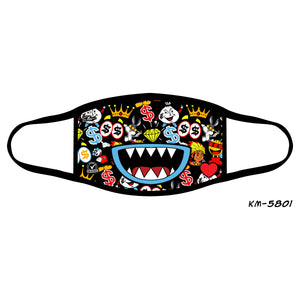 Candy Mouth Kid's Fashion Mask Black - Elite Premium Denim