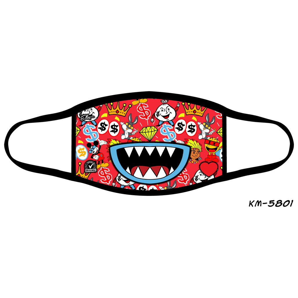 Candy Mouth Kid's Fashion Mask Red - Elite Premium Denim